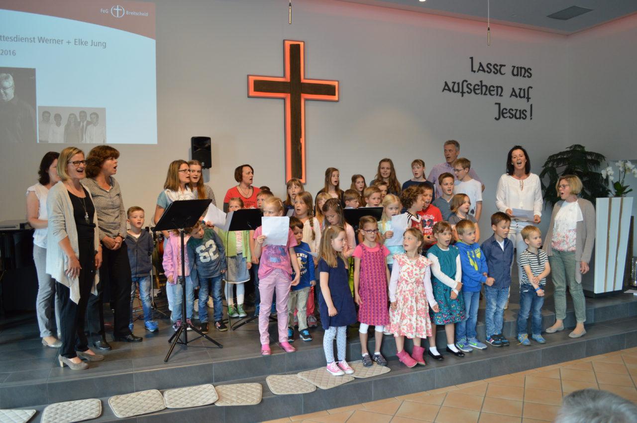 Musikalischer Gruß der Kinder